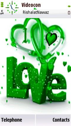 Animated Green Love
