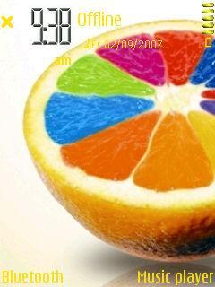 Coloured Orange