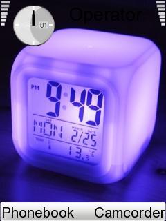 Night Clock Theme for Nokia E72 Free Download