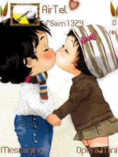 Cute Love Kiss