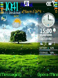 Clock Animated Theme for Nokia E63 Free Download