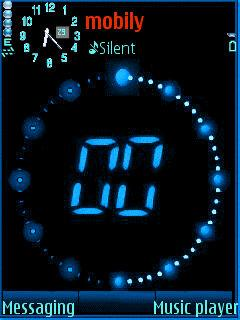Animated Clock for Nokia 6121 Free Download in More Tag