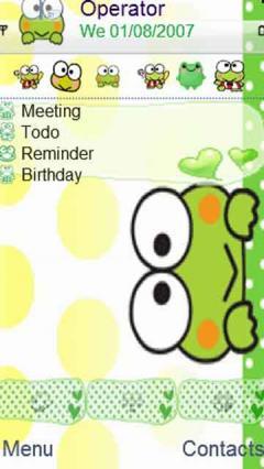 Peeking Green Frog