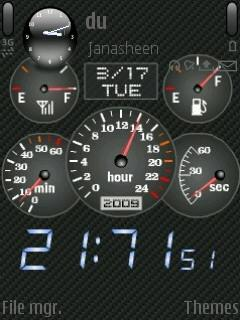 Flash Car Clock
