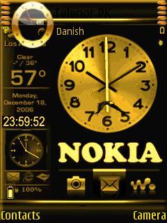 Animated Nokia Clock