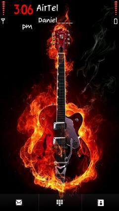 Fired Guitar