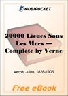 20000 Lieues Sous Les Mers for MobiPocket Reader