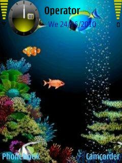 3d Aquarium For Nokia E71 Free Download In Themes Wallpapers