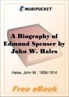 A Biography of Edmund Spenser for MobiPocket Reader