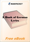 A Book of German Lyrics for MobiPocket Reader