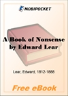 A Book of Nonsense for MobiPocket Reader