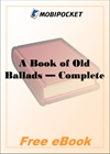 A Book of Old Ballads for MobiPocket Reader