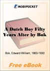 A Dutch Boy Fifty Years After for MobiPocket Reader