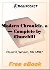 A Modern Chronicle - Complete for MobiPocket Reader