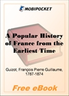 A Popular History of France from the Earliest Times, Volume 2 for MobiPocket Reader