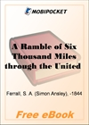 A Ramble of Six Thousand Miles through the United States of America for MobiPocket Reader