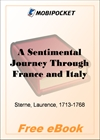 A Sentimental Journey Through France and Italy for MobiPocket Reader