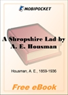 A Shropshire Lad for MobiPocket Reader