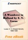 A Wanderer in Holland for MobiPocket Reader