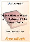 A Word Only a Word - Volume 01 for MobiPocket Reader