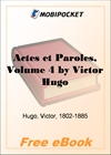 Actes et Paroles, Volume 4 for MobiPocket Reader