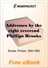 Addresses by the right reverend Phillips Brooks for MobiPocket Reader