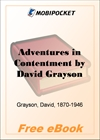 Adventures in Contentment for MobiPocket Reader