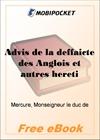Advis de la deffaicte des Anglois et autres heretiques venuz en Bretaigne, pour le Roy de Navarre, pres Chasteau-bourg