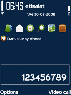 Dark Blue Theme