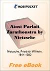Ainsi Parlait Zarathoustra for MobiPocket Reader