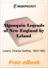 Algonquin, Legends of New England for MobiPocket Reader