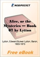 Alice, or the Mysteries - Book 07 for MobiPocket Reader