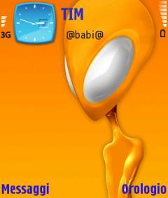 Alien Yellow Theme for Nokia N70/N90