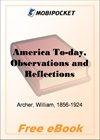 America To-day, Observations and Reflections for MobiPocket Reader