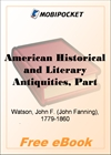 American Historical and Literary Antiquities, Part 03 for MobiPocket Reader