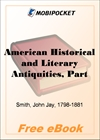 American Historical and Literary Antiquities, Part 20. Second Series for MobiPocket Reader