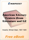 American Literary Centers for MobiPocket Reader