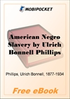 American Negro Slavery for MobiPocket Reader