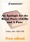 An Apologie for the Royal Party (1659); and A Panegyric to Charles the Second (1661) for MobiPocket Reader