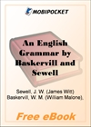 An English Grammar for MobiPocket Reader