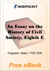 An Essay on the History of Civil Society for MobiPocket Reader