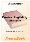 Aristotle on the art of poetry for MobiPocket Reader