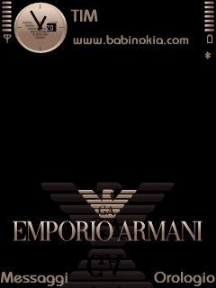 Armani Black Theme for Nokia N70/N90