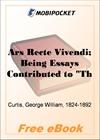 Ars Recte Vivendi for MobiPocket Reader