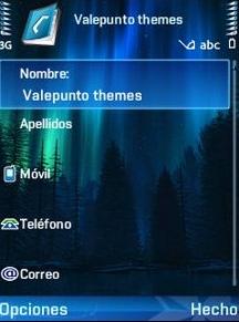 Aurora Azul V2 QVGA Theme