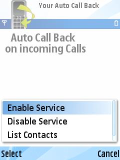 Auto Call Back