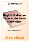 Bagh O Bahar, or Tales of the Four Darweshes for MobiPocket Reader