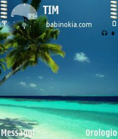 Beach Theme for Nokia N70/N90
