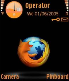 Black Firefox Theme for Nokia N70/N90