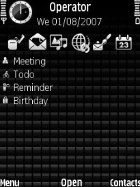Black Grid Theme for Symbian S60 3rd Edition